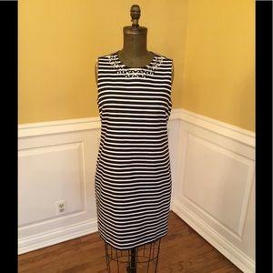 J. Crew Navy/White Striped Dress
